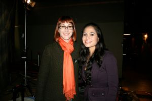 On the set of CSI with Cheryl Nick, one of my favorite LA makeup artists