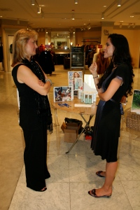 Me and Uli chatting. I love her! And I love Project Concern so much!!
