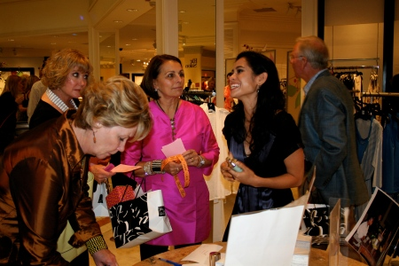 The Project Concern Event at Saks Fifth Avenue! Chatting with the women that attended and came by my table.
