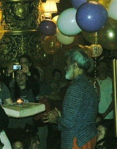 Dharma accepting his birthday cake yesterday. He is the sweetest man ever!