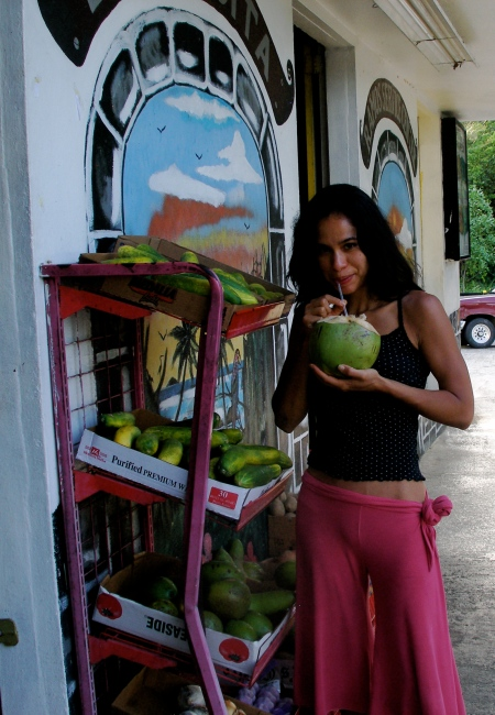 This is the last time I ate a truly fresh coconut- early September in Rincon, Puerto Rico!